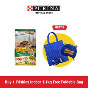 FRISKIES Adult Indoor Delights 1.1kg Free Foldable Bag