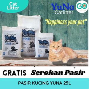 Yuna Cat litter Premium Grade Bentonite 25L Pasir Kucing Wangi Gumpal