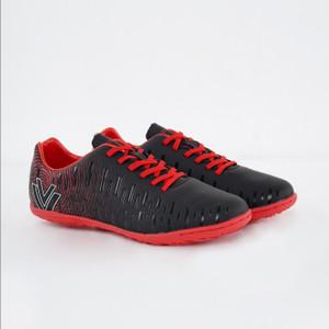 Vegeto Sepatu Futsal Thunder Indoor Black Red