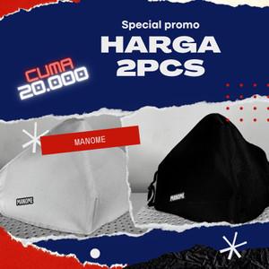 Masker isi 2 Pcs MANOME - BLACK & WHITE