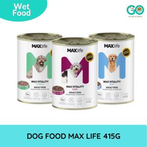 MAXLIFE DOG FOOD 415GR - MAKANAN ANJING BASAH WET FOOD MAX LIFE MURAH
