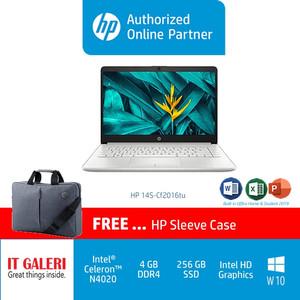 HP 14S-CF2516TU CELERON-N4020/4GB/256GB/14.0/WIN10+OHS2019/SILVER