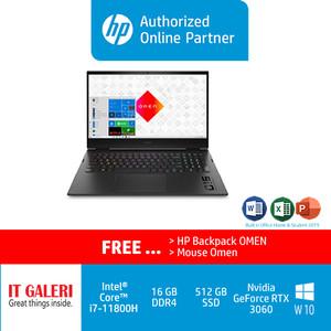 OMEN Laptop 16-b0064TX - i7-11800H/16GB/512GB/RTX3060/OHS/Black