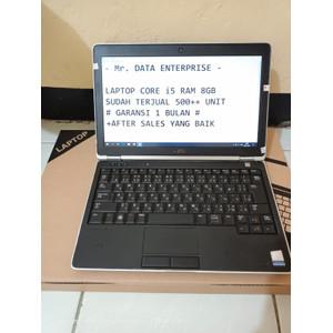 LAPTOP RAM 8GB CORE i5 DENGAN SSD MERK DELL VGA INTEL NVIDIA BONUS TAS
