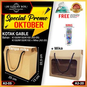 Dus Kue | Gable Box | Kraft | (25x13x22.5) | Kotak Kue | Packaging Box