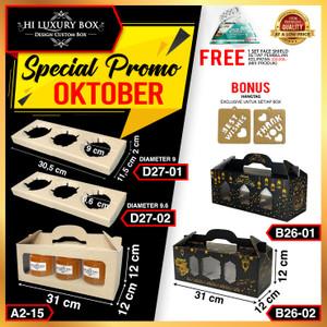 Kotak Kue|Cake Box|Kotak Kue Mika|Dus Kue|Packaging|31x12x12|A2-15