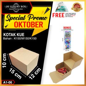 Box Packaging Polos (15x12x10) |Kotak Kue|Cake Box|Kraft|Carton