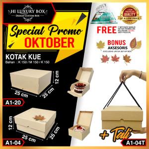 Box Packaging Polos (25x25x12) | Kotak Kardus Packing Kraft |Kotak Kue