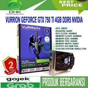 VGA VURRION GTX 750 TI 4GB DDR5 NVIDIA GEFORCE GRAPHIC CARD