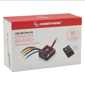 HOBBYWING QUICRUN 1080 80A ESC BRUSHED WATERPROOF WITH PROGRAM CARD