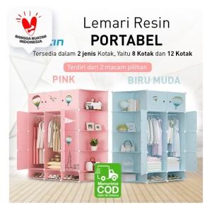 Lemari Baju Bongkar Pasang Portable / Rak Lemari Baju / Lemari Pakaian