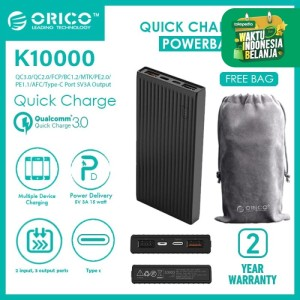 ORICO K10000 10000mAh Universal Fast Charging Power Bank