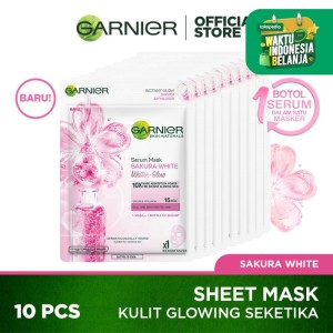 Garnier Serum Mask Sakura White Water Glow Pack of 10