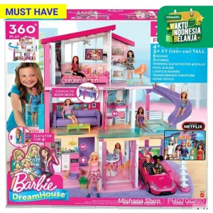 Rumah Boneka Barbie Dream House 3 Lantai - Mattel Dreamhouse