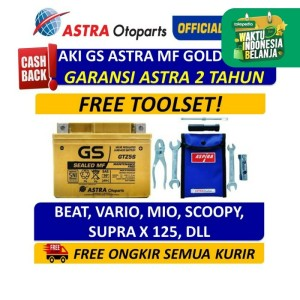 Aki GS ASTRA MF GOLD GTZ5S utk Beat, Mio, Vario GARANSI 2 TAHUN ORI