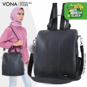VONA Tas Ransel Wanita Korea Multifungsi 3 in 1 / Backpack - SCARLETT