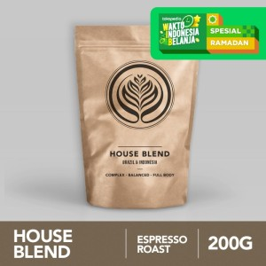 House Blend 200g - Biji Kopi Arabika 200gr | Coffeenatics