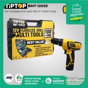 Tip Top BMT-120SE 12V Bor Obeng Baterai Dengan Pekakas 100Pcs