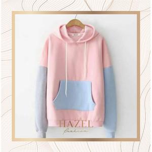Hoodie Jaket Wanita Polos Sweater Warna Pastel Soft Import China