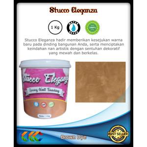 Cat Fresco Stucco Eleganza Warna Cokelat Brown Dye