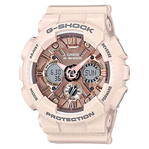 Casio G-Shock GMA-S120MF-4ADR - Water Resistance 200M White Resin Ban