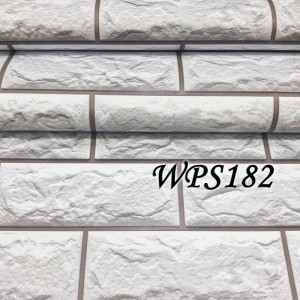 WPS182 SOFT GREY STONE BRICK Wallpaper-dinding walpaper stiker dinding