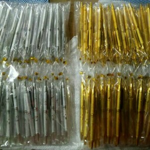 Souvenir Pernikahan Pulpen Gold / Silver Murah Sovenir Alat Tulis
