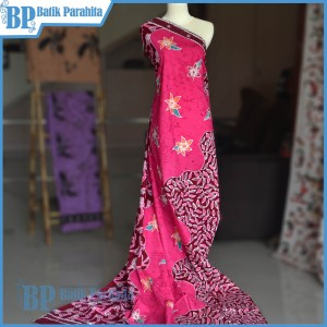 Kain Batik Tulis Merah Pink Kanthil