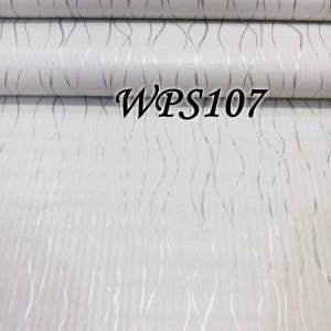 WPS107 WHITE N SILVER RIBBON wallpaper-dinding walpaper stiker dinding