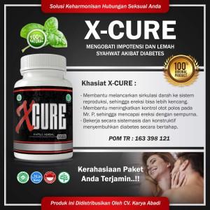 X Cure - Obat k.uat Pria Penderita Diabetes,Kolesterol,Hipertency BPOM