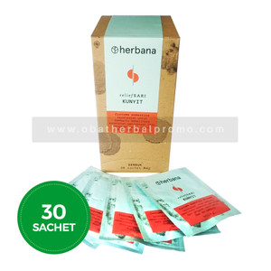 Herbana Relief Sari Serbuk Kunyit Obat Asam Lambung & Antidiare Alami