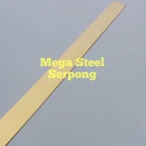 Plat Strip Gold Stainless Steel Uk. 1.5 cm Panjang 122 cm