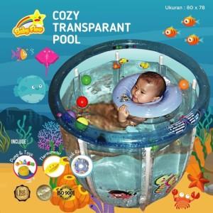 Baby Flow Baby Spa Cozy Transparant Pool 80 x 78 cm Kolam Renang Bayi