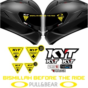 Paket Stiker Visor Helm KYT KBC INK NHK Bismillah Before The Ride