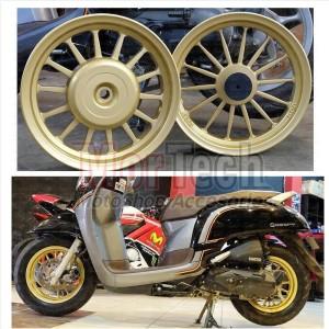 Velg Pelek Rossi Galaxy Model Daytona Ring 12 All New Scoopy 2018 Gold
