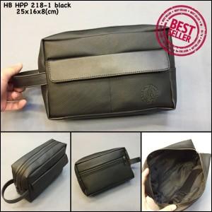 Dompet Hush Puppies 218-1 black super dompet cowok handbag murah pria