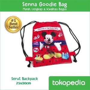 Serut Backpack Goodie Bag Ulang Tahun Pakai Nama Custom Model String