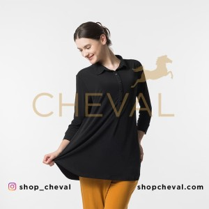 CHEVAL MARINA Blouse - size 2XL - Blus kerah kemeja