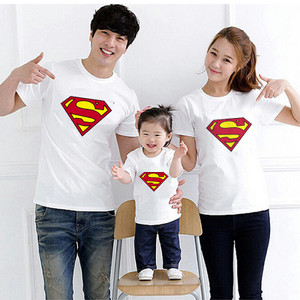Kaos Couple Family logo Superman