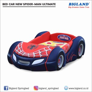 Bigland Springbed Bedcar New Spiderman Classic Support