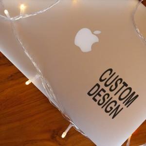 Decal Sticker Macbook Stiker CUSTOM DESIGN custom desain Laptop 6-10cm
