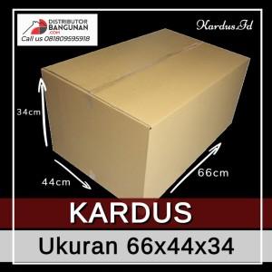 Kardus Dus Karton Box Polos Packing Besar Uk 66x44x34 Baru (Bkn Bekas)