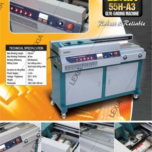 Mesin Lem Binding Buku A3 Tipe 55H-A3 Merek LEXIA