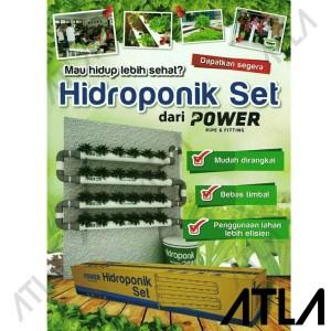 Paket Hidroponik Set Pipa Lubang POWER Hydroponic Starter Kit HS001
