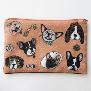 Pencil Case: Terracota Dog