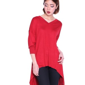 Miyoshi Josei MJ010HRDK16 Blouse Red