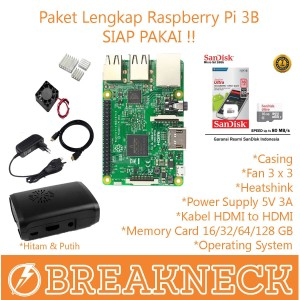 Paket Lengkap Raspberry Pi 3 Model B