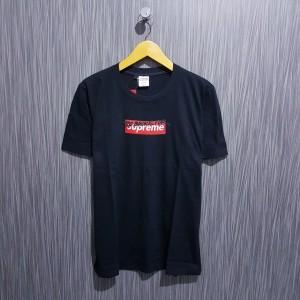 Kaos/Baju/Tshirt Supreme Too broke for Logo box merah premium hitam