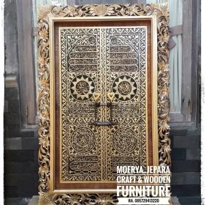 Kaligrafi Pintu Ka'bah Mewah Ukiran Kayu Jepara 150cm x 90cm