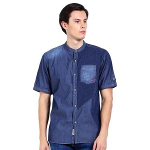 Bushido Jeans BD17SH020RB Short Sleeve Shirt Medium Blue